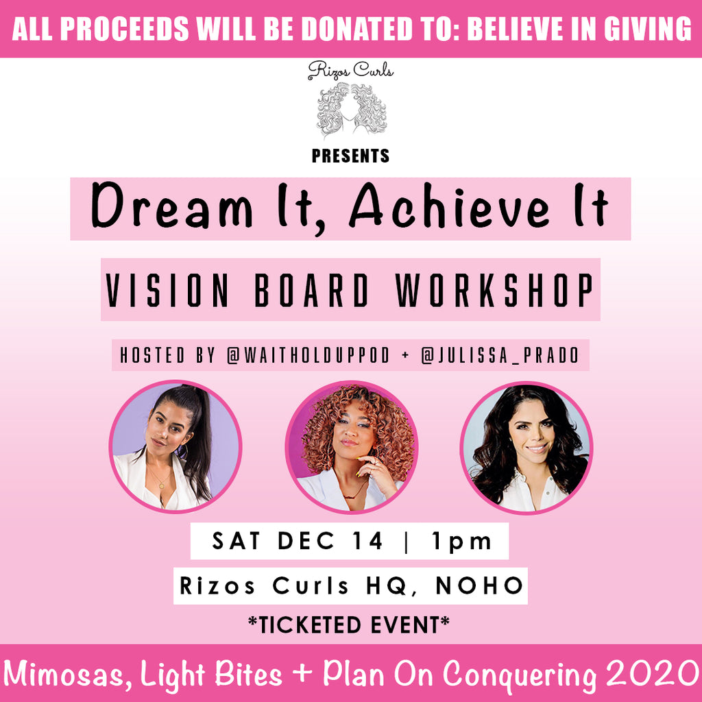 Ticket For: Vision Board Workshop For a Cause on 12/14 @ 1pm