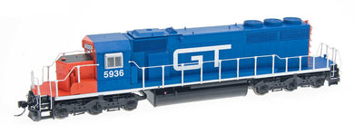 Intermountain SD40-2's with working ditch lights