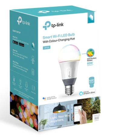 TP-Link Smart Wi-Fi LED Bulb with Colour Changing