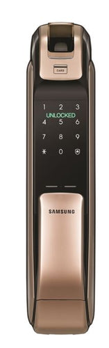 Samsung Bluetooth and Biometric Push & Pull Smart Door Lock (Gold) SHP-DP728AK/EN