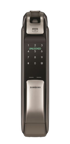 Samsung Bluetooth and Biometric Push & Pull Smart Door Lock (Silver) SHP-DP728AK/EN