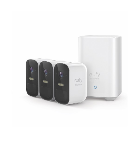 Eufy Cam 2C Wire Free Full-HD Security 3-Camera Set