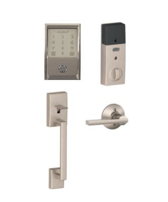 Schlage Encode Smart Deadbolt and Handle Set (Satin Nickel)