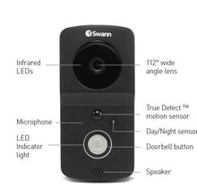 Swann Wire-Free 720p HD Smart Video Doorbell Kit with Chime Unit