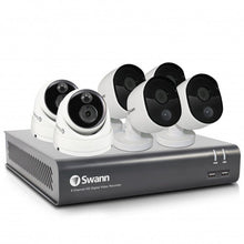 Swann 8 Channel Security System: 1080p Full HD DVR-4575 with 1TB HDD plus 2 x Dome & 4 x Bullet 1080p Thermal Sensing Cameras (DVK-4580)