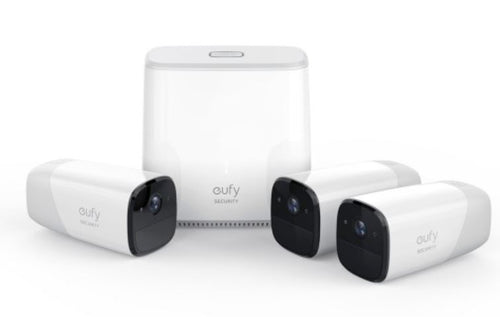 Eufy Wire-Free HD Security Cam with Home Base Kit (3 cameras)
