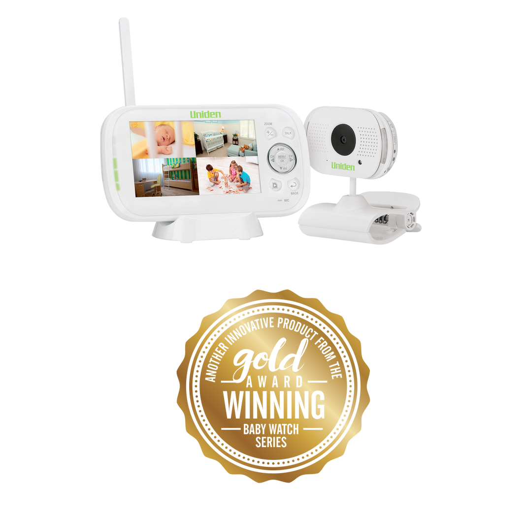 Digital Wireless Baby Video Monitor with Remote Viewing via Smartphone App