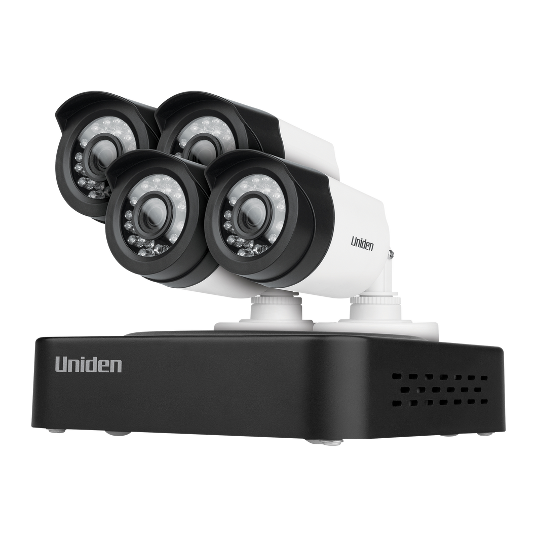Uniden Guardian DVR Security System with FULL HD 1080P Technology, Including 4 Weatherproof cameras
