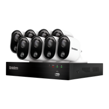 Uniden Guardian 2MP FULL HD DVR Thermal-Sensing Security System including 4 Wired Bullet Weatherproof Cameras