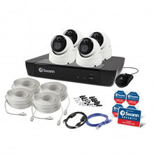 Swann 8 Channel Security System: 5MP Super HD NVR-8580 with 2TB HDD & 4 x 5MP Thermal Sensing Dome Cameras NHD-866MSD