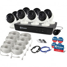 Swann 8 Channel Security System: 5MP Super HD NVR-8580 with 2TB HDD & 8 x 5MP Thermal Sensing Bullet Cameras NHD-865MSB