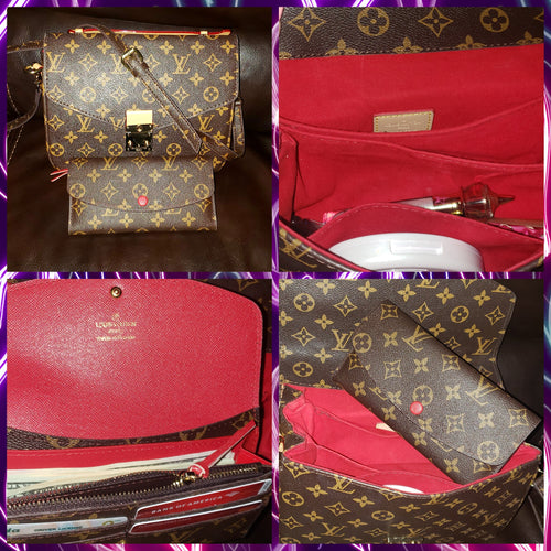LV Sexy Red Bag & Wallet Set
