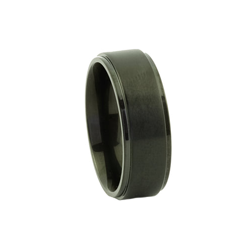 Black Titanium Mens Ring - Mens Rings Australia