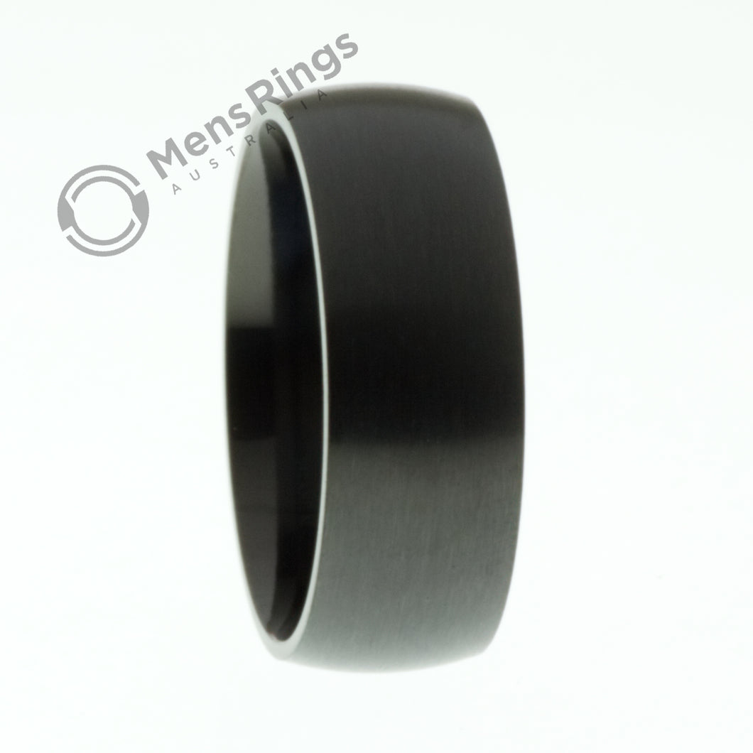 Black Dome Titanium Ring - Mens Rings Australia