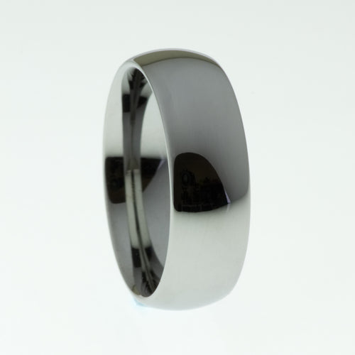Polished Dome Tungsten Ring - Mens Rings Australia
