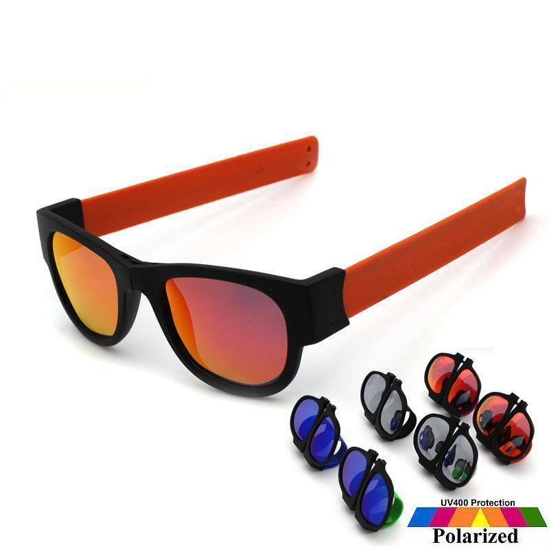 c9ff9f9c228 Slap Fold-able Sunglasses - Red Mirrored