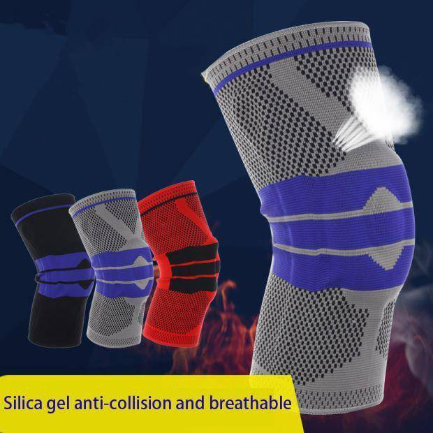 c5c6e203e2 Nylon Silicon Knee Sleeve Support - Red / 36cm to 42cm