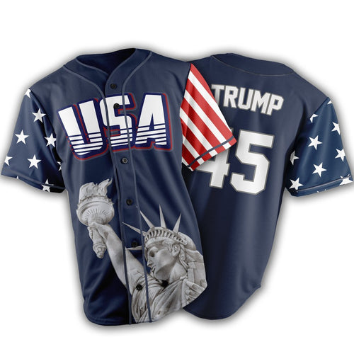20dd9dd52 Limited Edition Blue Trump  45 Jersey - Keep America American