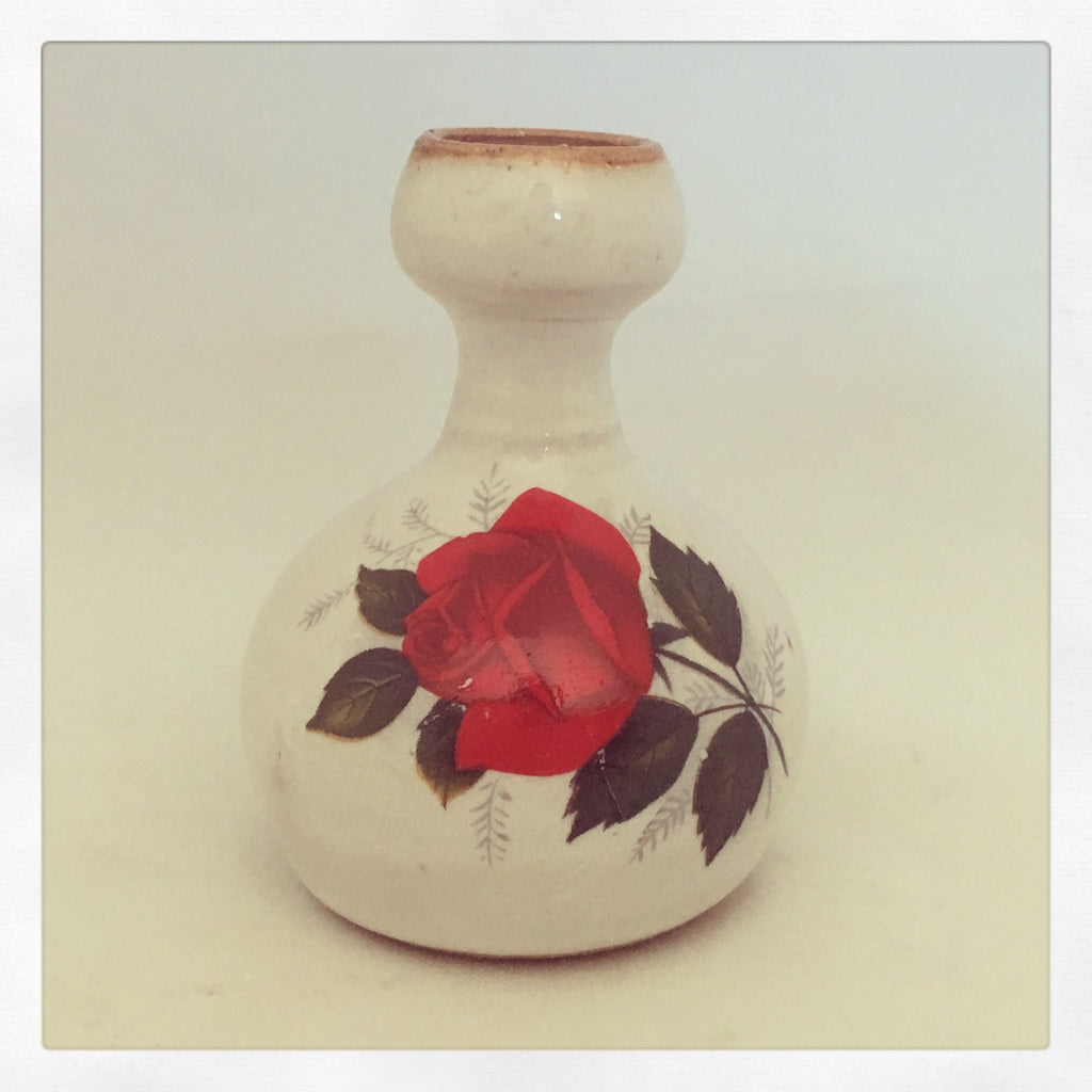 Vintage Red Rose Kissing Chillum