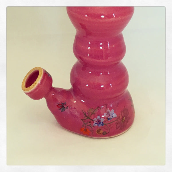 Pretty in Pink Large Table Top Ceramic Pipe