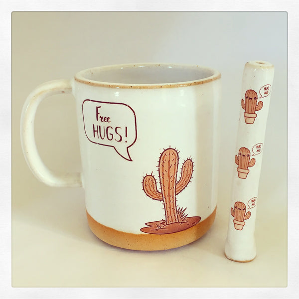 Free Hugs Friendly Cactus Wake & Bake Set