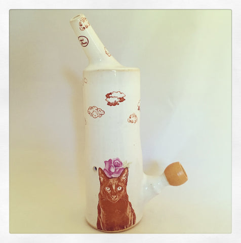 Crazy Cat Lady Large Standing Pipe