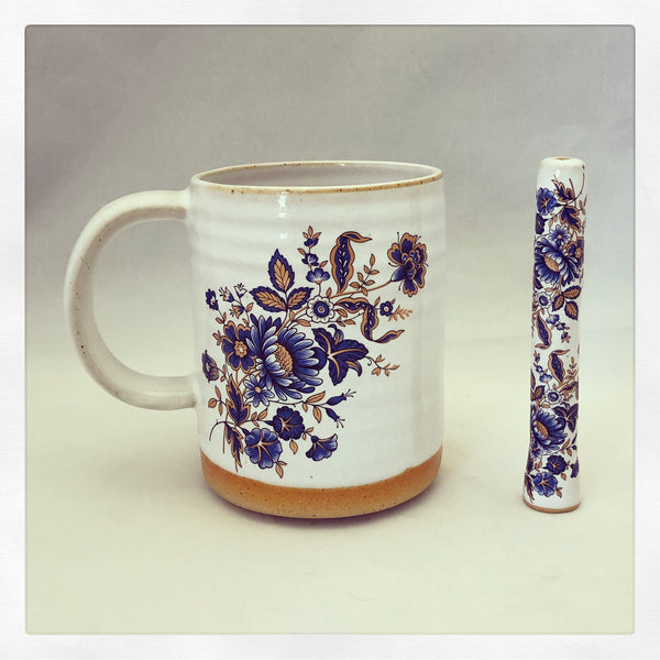 Boho Blue Blossoms Wake & Bake Set