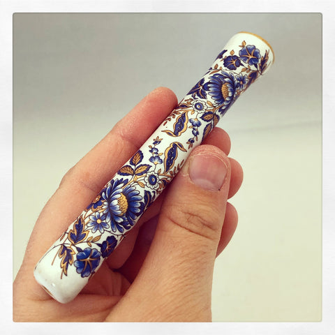 Blue & Gold Boho Blossoms Chillum