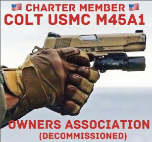 Stickers (Individual)--Colt M45A1 USMC Collectors Association decal