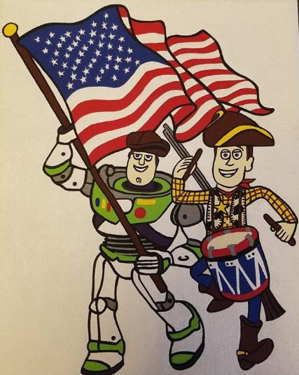Sticker (Individual)-HD-Patriot Special Edition (Buzz and Woody)