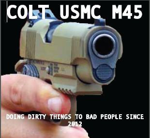 Stickers (Individual)--Colt M45A1
