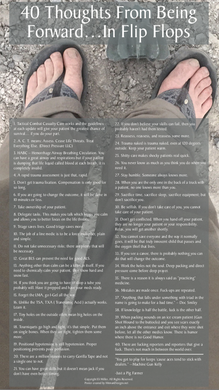 POSTER-HD-40 Thoughts...Forward In Flip Flops