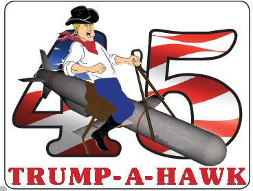 Sticker (Individual)--Trump-A-Hawk