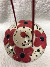 Sassy Dots Red ceramic hummingbird feeder