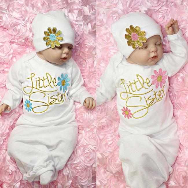 Cute Floral Newborn Romper Long Sleeve