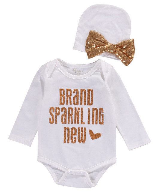 "Cute Two Piece Onesie Set ""Brand Sparkling New"""