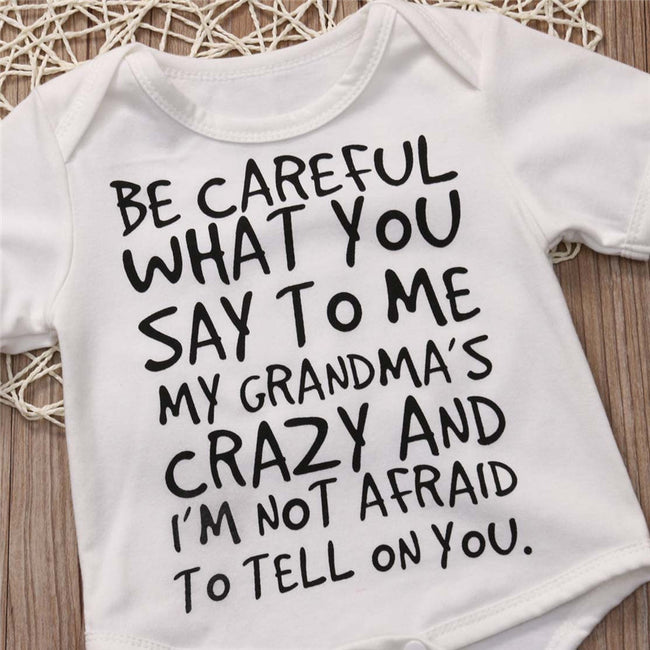 "Nice Onesie ""Careful What You Say To Me"""