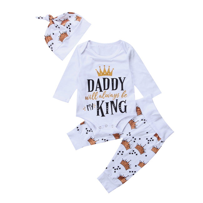 3PCS Set Daddy Will Always Be My King