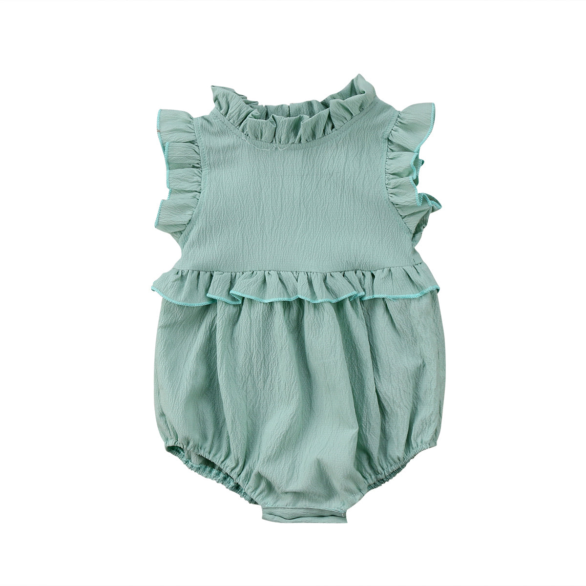 Baby Girls Sleeveless Ruffles Romper Jumpsuit