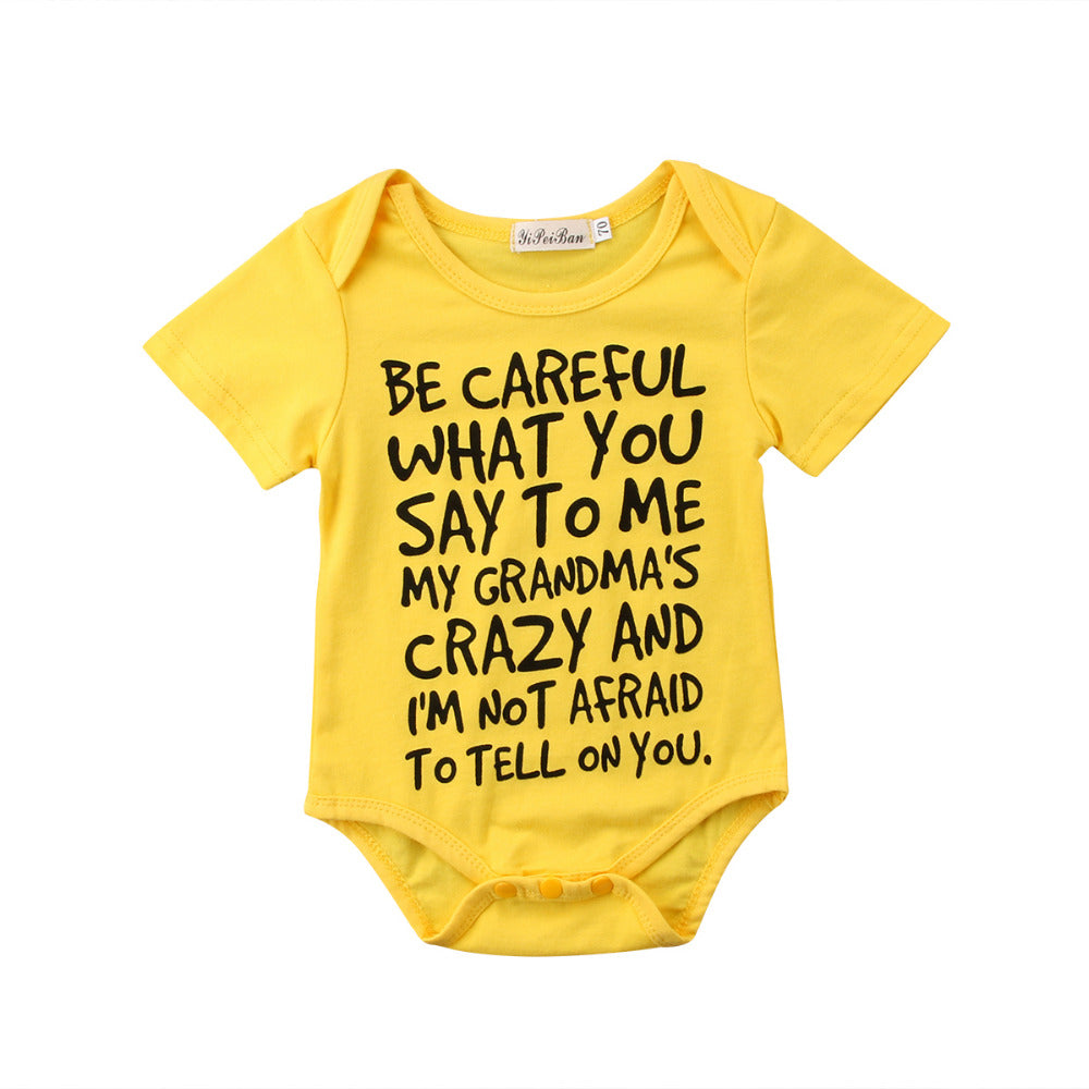 Be Careful Around Grandma Onesie