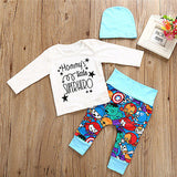 Cute 3 Piece Set Mommy Little Superhero