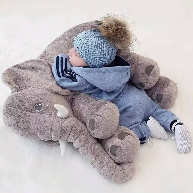 Cute Soft Elephant Appease Baby Pillow  To Calm Baby