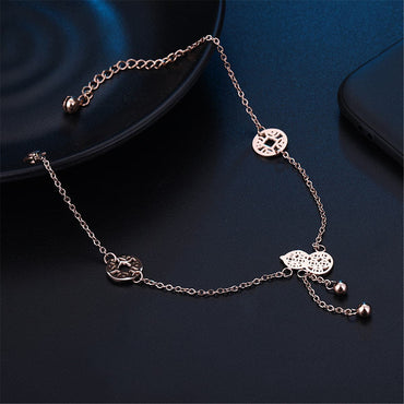 18k Rose Gold-Plated Calabash & Coin Charm Anklet