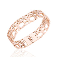 18k Rose Gold-Plated 'CH' Bangle - streetregion