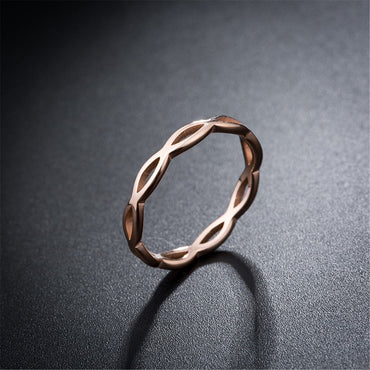 18k Rose Gold-Plated Crossed-Lines Band