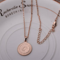 18k Rose Gold-Plated Argencoppere Peso Pendant Necklace - streetregion
