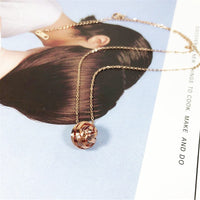18k Rose Gold-Plated String Ball Pendant Necklace - streetregion