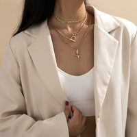 18K Gold-Plated 'Scorpio' & Rose Pendant Necklace Set