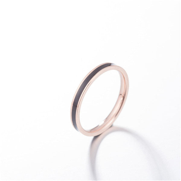 Black & 18k Rose Gold-Plated Band - streetregion