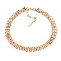 18k Gold-Plated Panther Chain Choker Necklace - streetregion
